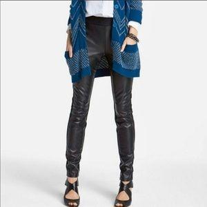 NYDJ Faux Leather & Stretch Ponte Legging Sz 10